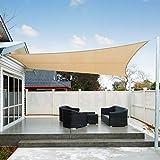 AXT SHADE Toldo Vela de Sombra Rectangular 3 x 4 m, proteccin Rayos UV Impermeable...