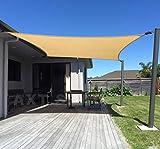 AXT SHADE Toldo Vela de Sombra Rectangular 3 x 4 m, proteccin Rayos UV y HDPE...