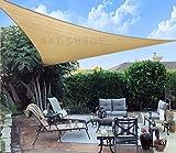AXT SHADE Toldo Vela de Sombra Triangular 3 x 3 x 4,25 m, proteccin Rayos UV y HDPE...