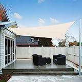 AXT SHADE Toldo Vela de Sombra Cuadrado 4 x 4 m, proteccin Rayos UV Impermeable para...