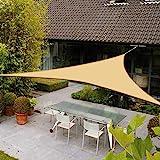 AXT SHADE Toldo Vela de Sombra Triangular 3 x 3 x 3 m, proteccin Rayos UV Impermeable...